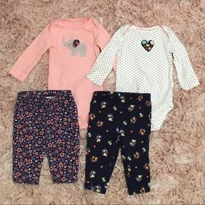 CARTER'S Baby Girl Outfit Bundle